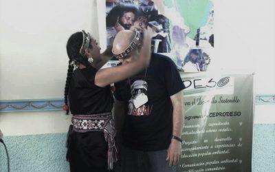 Un trarilongko Mapuche en Cuba